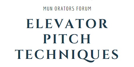 Elevator Pitch Techniques tickets