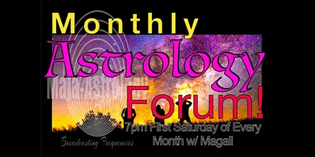 Monthly Astrology Forum (August) with Magali tickets