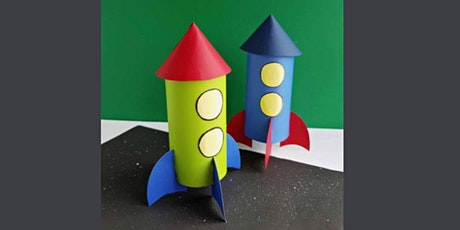 45min Learn to Paper Craft: Rocketship  @11AM (Ages 5+) tickets