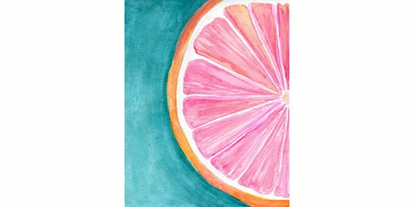 45min Learn to Draw a Scenery: Grapefruit Painting @2PM  (Ages 6+) tickets