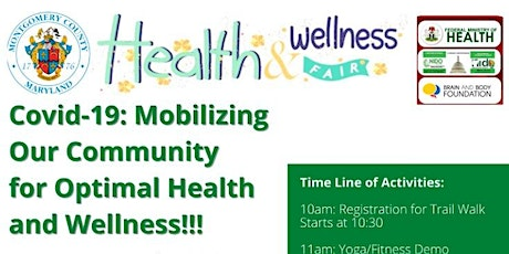 COVID-19 Mobilizing our Community for Optimal Health and Wellness tickets