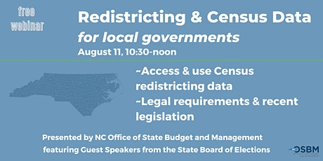 Redistricting & Census Data, an update for local governments tickets