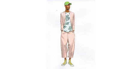 60min Fashion Sketching  Lesson - Pink Suit @2PM (Ages 7+) tickets