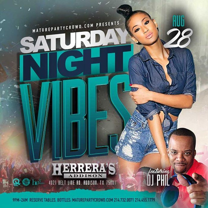 SATURDAY NIGHT VIBES @ HERRERA'S ADDISON w/DJ PHIL image