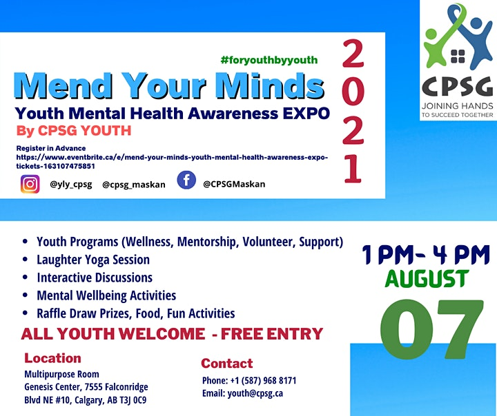 Mend Your Minds- Youth Mental Health Awareness Expo image