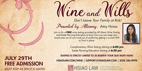 Wine and Wills tickets
