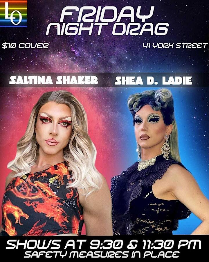 Friday Night Drag: Saltina & Shea - 11:30pm image