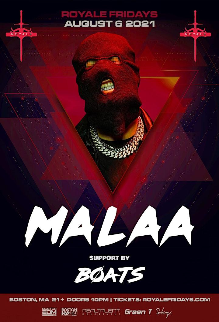 Malaa at Royale   8.6.21   10:00 PM   21+ image