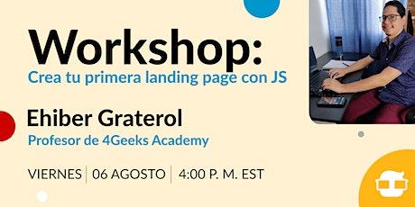 Workshop gratuito: Crea tu primera landing page con JS tickets