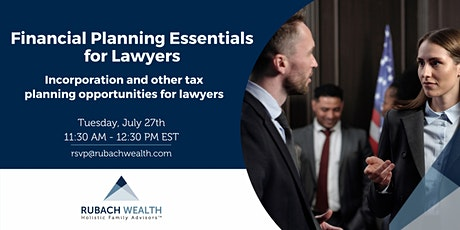 Incorporation and Other Tax Planning Opportunities for Lawyers tickets