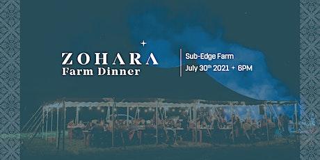 Zohara Farm Dinner tickets