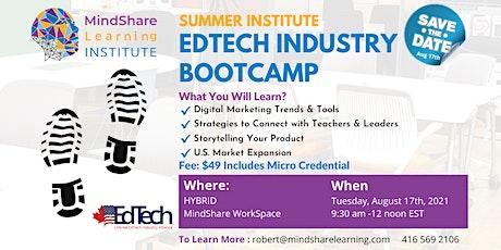Hybrid Summer Institute Edtech industry bootcamp tickets