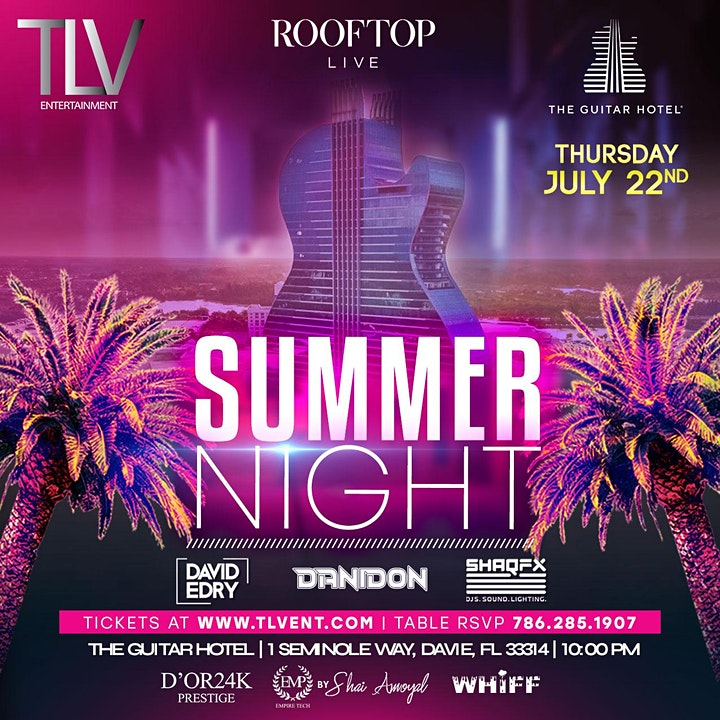 Celebrate Love July 22nd @ Guitar Hotel Rooftop image