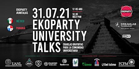 Ekoparty University Talks  México Panamá 2021 entradas