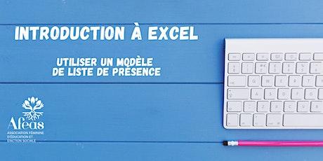 Introduction à Excel : utiliser un modèle de liste de présences billets