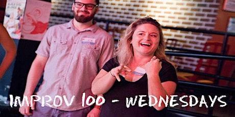 IMPROV 100 WEDNESDAYS   -  Intro to Improv - Build Confidence  FALL tickets
