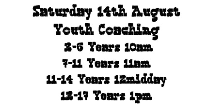 Saturday 14th August Youth Climbing Sessions BoulderWorld tickets