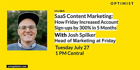SaaS Content Marketing: How Friday Grew Account Sign Ups by 300% in 5 Mths tickets
