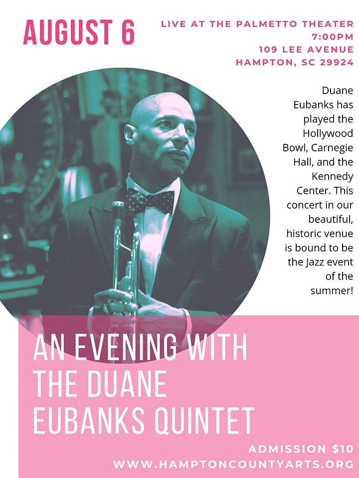 An evening with the Duane Eubanks Quintet LIVE at the Palmetto Theater image