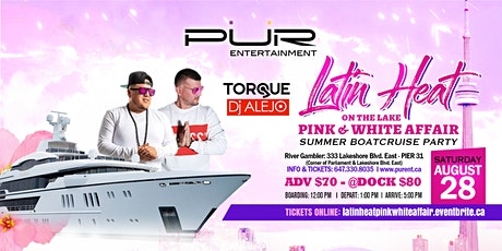 LATIN HEAT ON THE LAKE 2021-PINK & WHITE AFFAIR SUMMER BOATCRUISE PARTY tickets