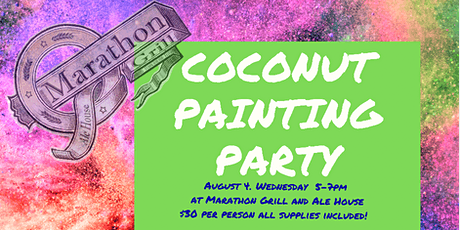 Coconut Painting Party at Marathon Grill tickets