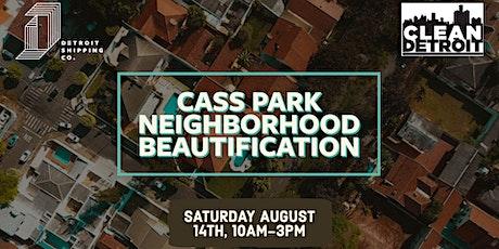 Cass Park Neighborhood Cleanup tickets