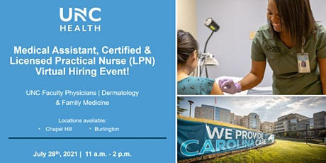 Medical Assistant, Certified & LPN Virtual Hiring Event tickets