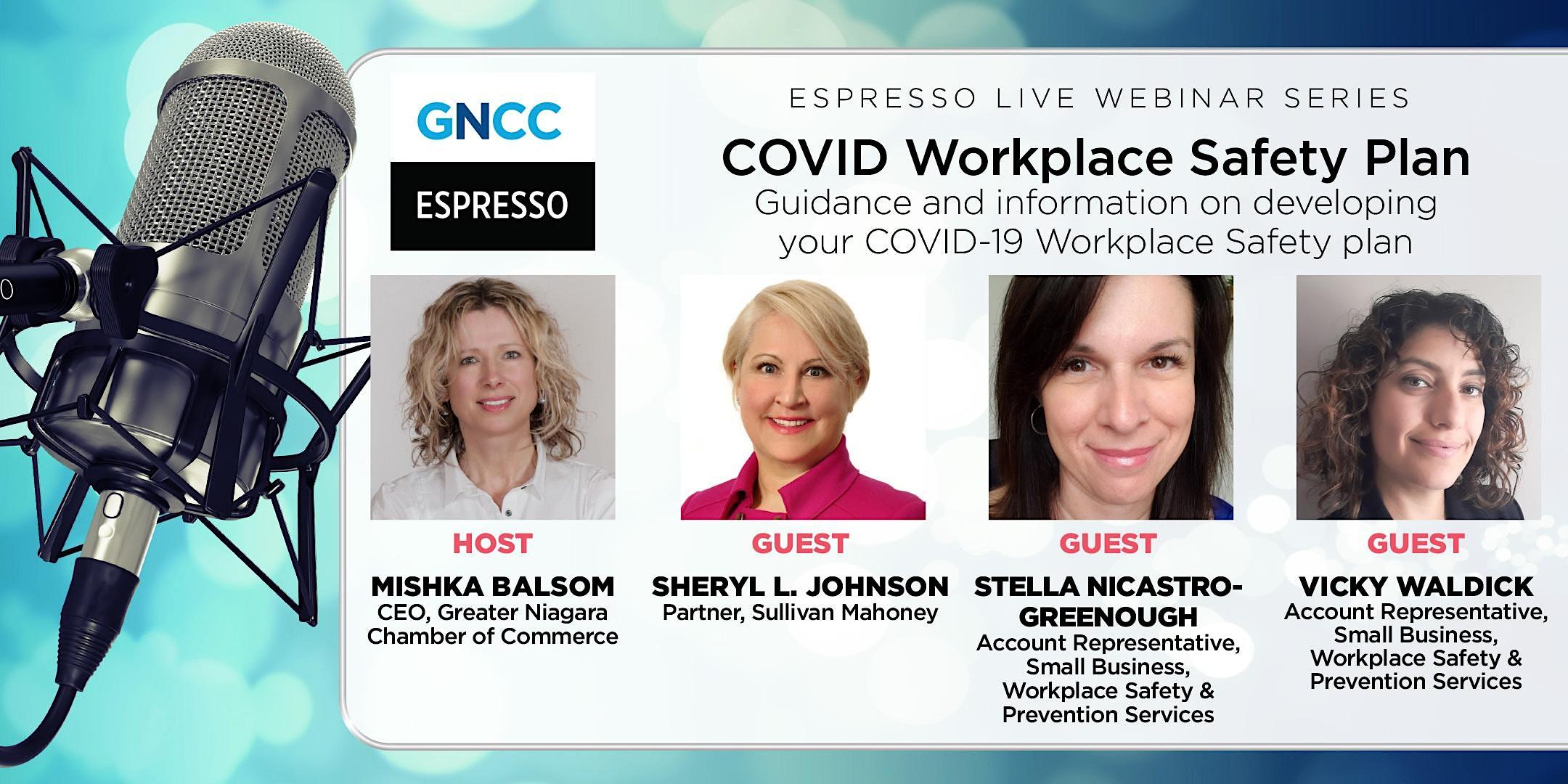 Espresso Live: COVID Workplace Safety Plan: July 29, 2021