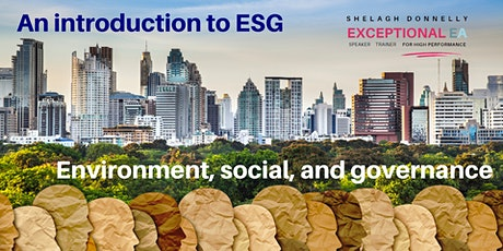 Introduction to ESG: Environmental, social , governance, w/Shelagh Donnelly tickets