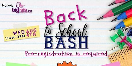 BIG SIS Back to School Bash tickets
