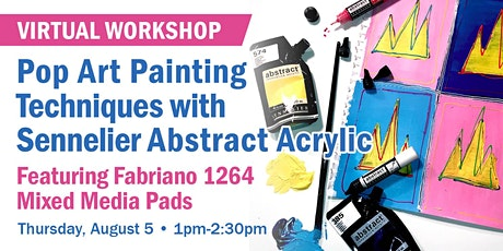 Pop Art Painting Techniques with Sennelier Abstract Acrylic tickets