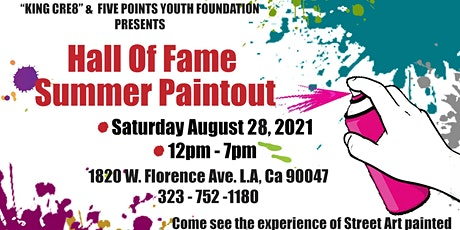 King Cre8 Paint-Out w/ SilkyD & LA DJ Smurf @ Five Points Youth Foundation tickets