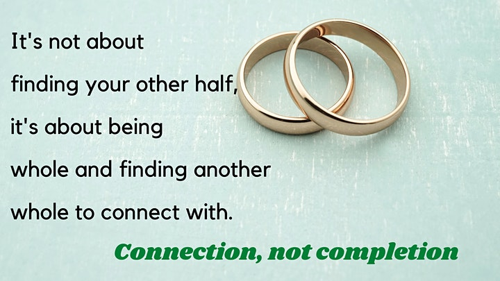 Connection instead of completion- love your way into a healthy relationship image