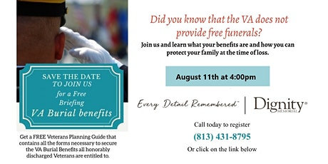 Florida Veterans!  Find out VA Funeral Benefits tickets
