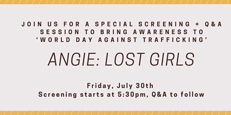 Film Screening for Awareness of Child Trafficking tickets