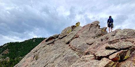 Intro to Trad Climbing | Boulder/Golden, CO :: 9/11 + /12 tickets