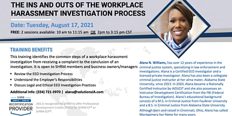 The Ins and Outs of the Workplace Harassment Investigation- SHRM Members tickets