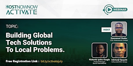Building Global Solutions to Local Problems! tickets