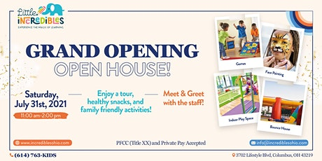 Little Incredibles - Grand Opening and Open House tickets