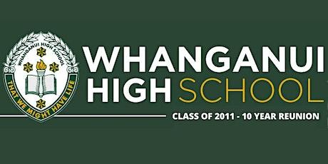 Whanganui High School Class of 2011 - 10 year reunion tickets