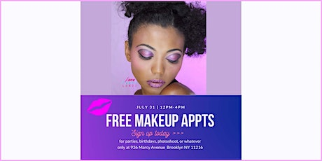 Free Makeup Appointments in Brooklyn tickets