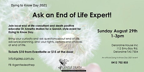 Dying to Know Day 2021 - ask an end of life expert! tickets