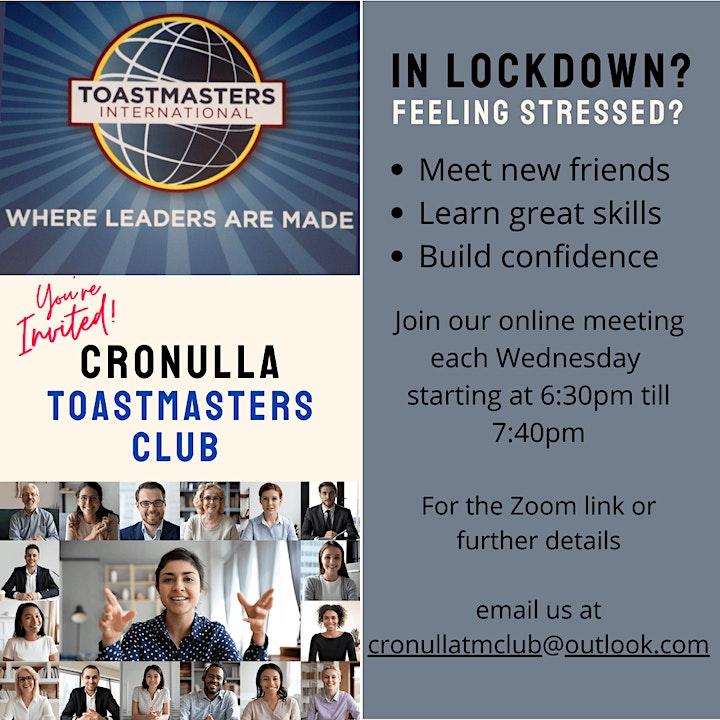 Cronulla Toastmasters Club - Build your Communication and Leadership Skills image