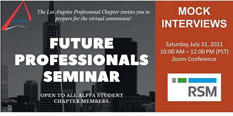 Mock Interviews: Future Professionals Seminar Part Two tickets
