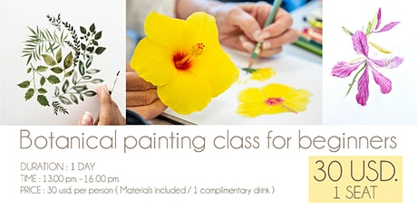 Botanical painting class for beginners tickets
