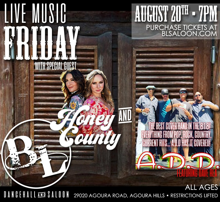 A.D.D Featuring Dave Rea and exciting female duo cover band Honey Duo image