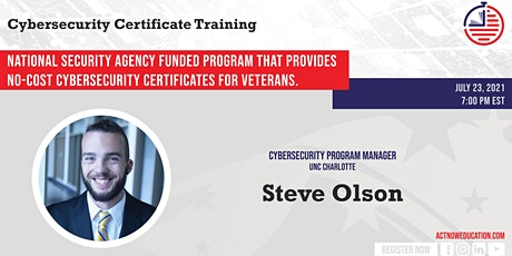 ACT NOW Webinar: Free Cybersecurity Training /Certificates For The Military tickets