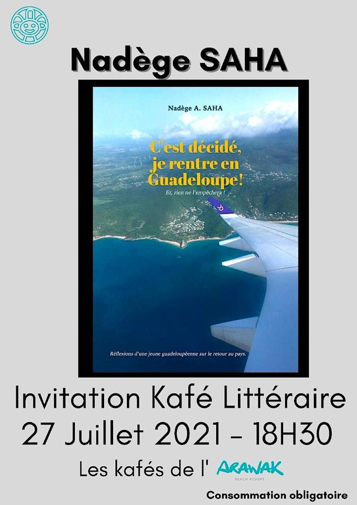 Image pour Café littéraire Nadège A Saha : C'est décidé, je rentre en Guadeloupe