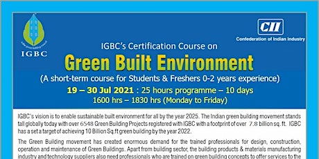 IGBC Certification Course on Green Built Environment (Online) tickets