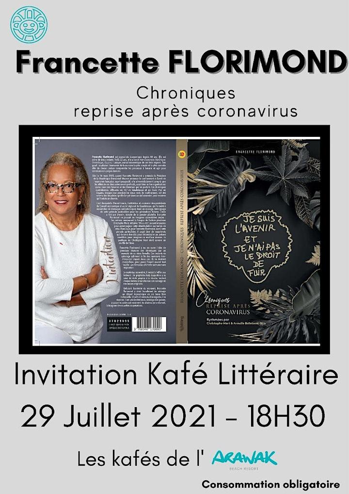 Image pour Café littéraire Chroniques reprise après Coronavirus : Francette Florimond